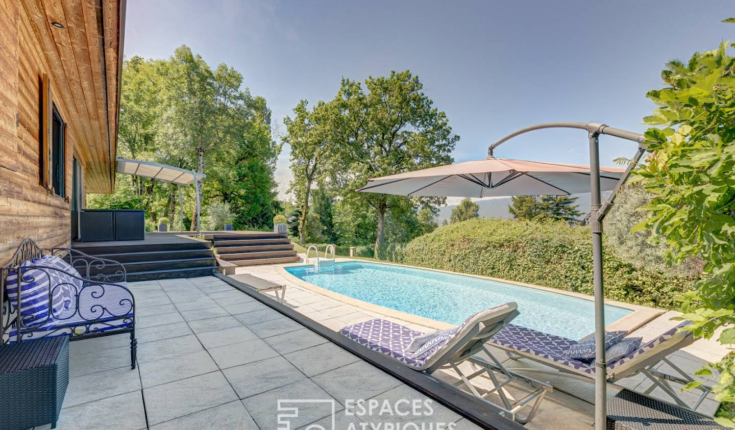 House with pool and terrace Pugny-Chatenod