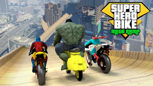 Super Hero Bike Mega Ramp - Racing Simulator 4.1 screenshots 2