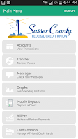 Screenshot of Sussex CFCU Mobile Banking
