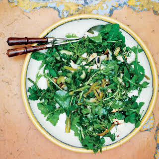 Grilled Green Salad with Coffee Vinaigrette.