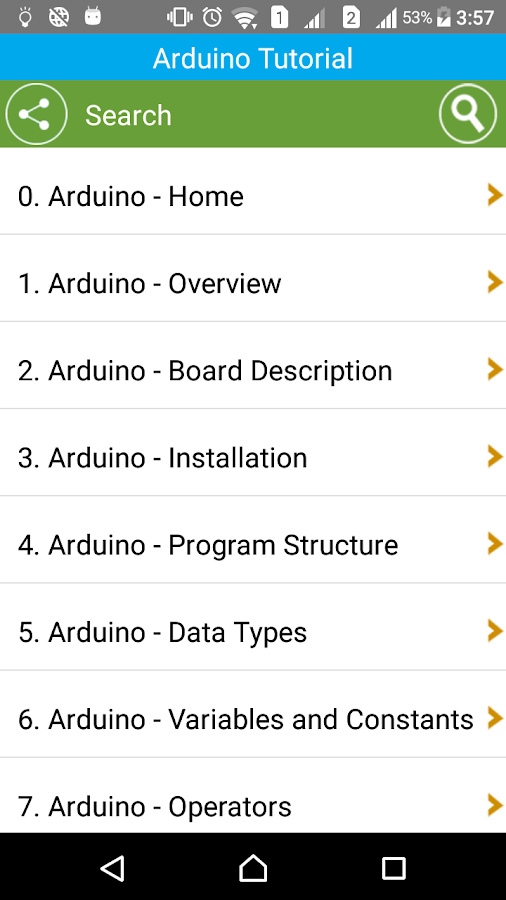 Learn Arduino- screenshot