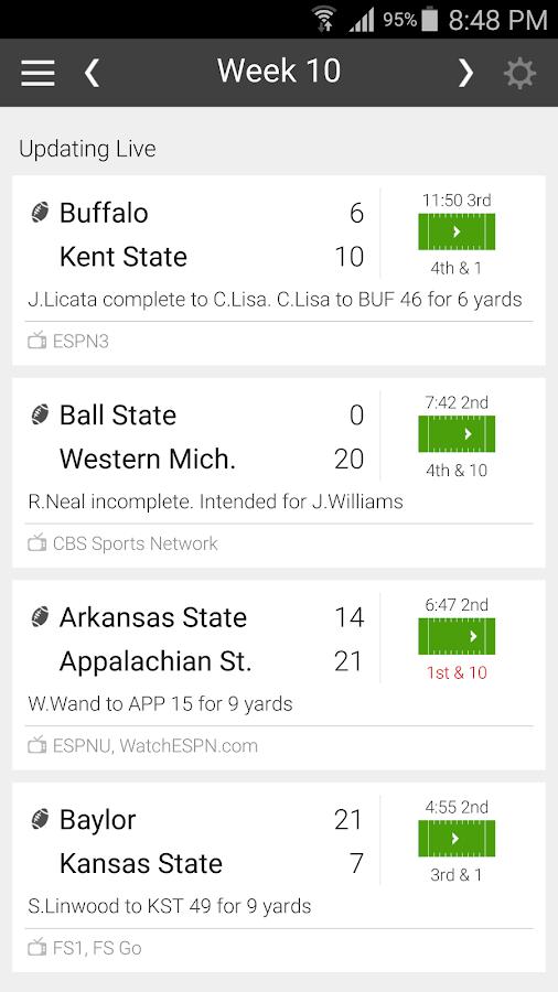 college football g iodds app