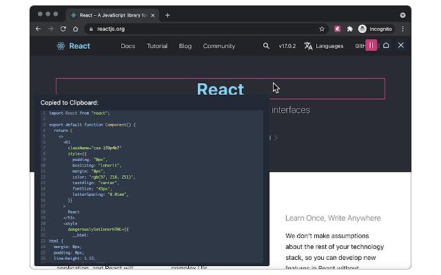 HTML to React