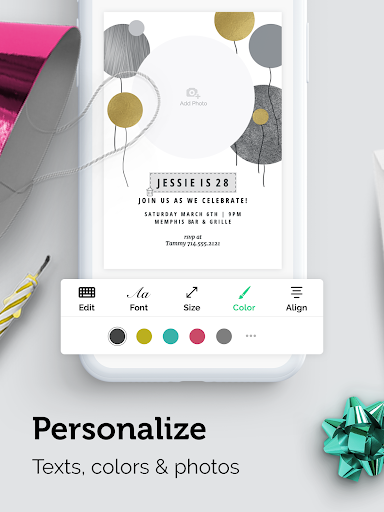Invitation Card Maker Free by Greetings Island screenshot 14