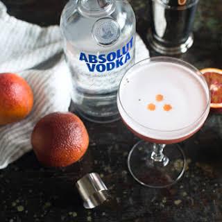 Blood Orange Vodka Sour.
