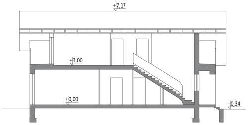 Szczupły - wariant II bliźniak - BCC203b - Przekrój