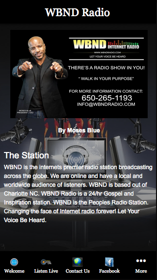 WBND Radio- screenshot