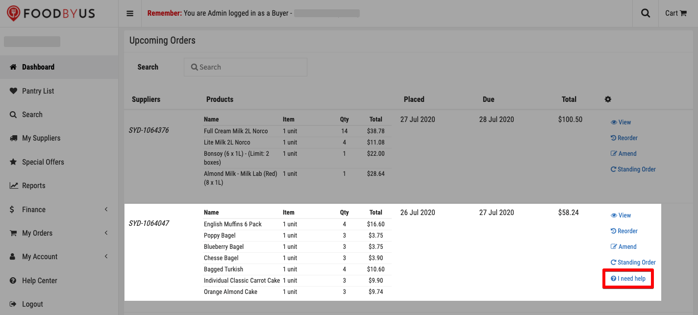 FoodByUs_dashboard_find_order_to_report