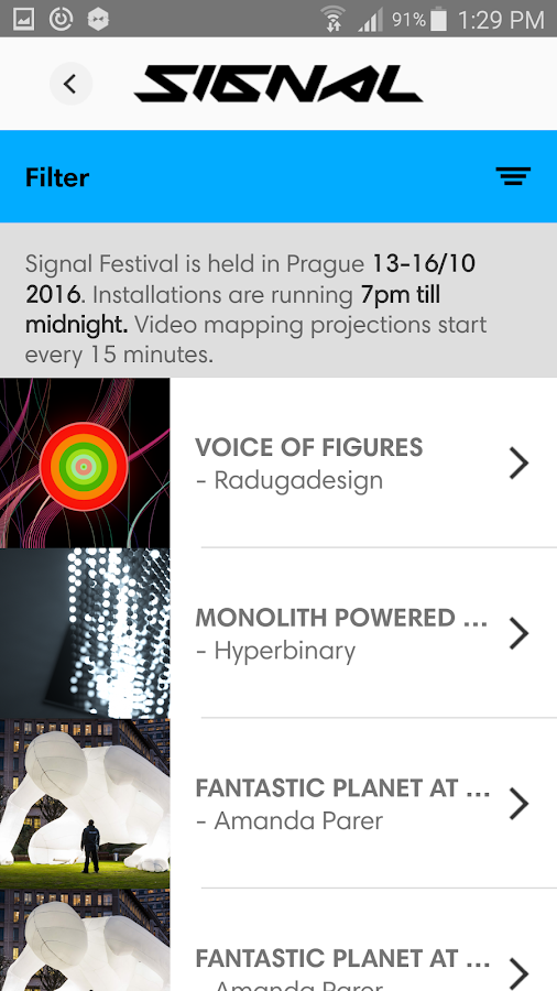 Signal Festival 2016- screenshot