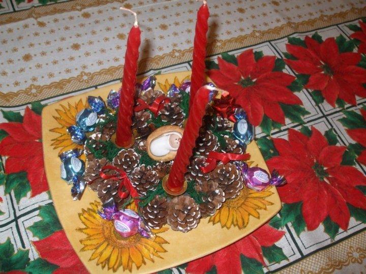 Centro tavola natalizio di gramigna