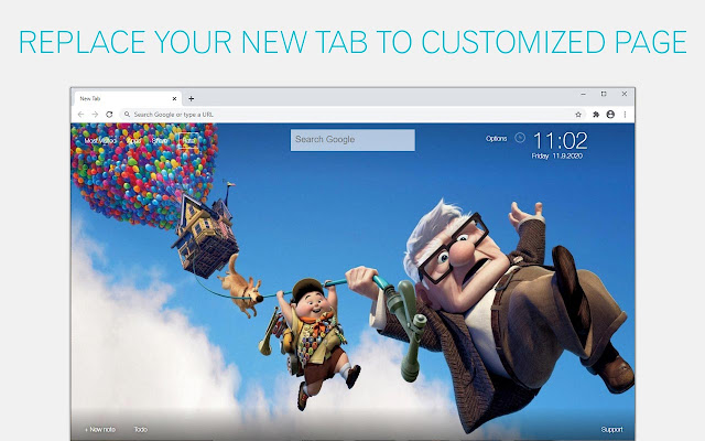 Up Wallpapers HD New Tab by freeaddon.com