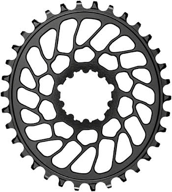 Absolute Black Oval Narrow-Wide Direct Mount Chainring - SRAM 3-Bolt Direct Mount, 0mm Offset alternate image 0