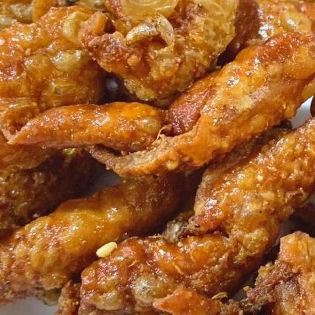 Chicharon Manok (Fried Chicken Skin)