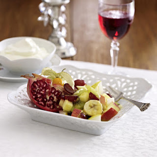 Fruit Salad with Ginger Cream.