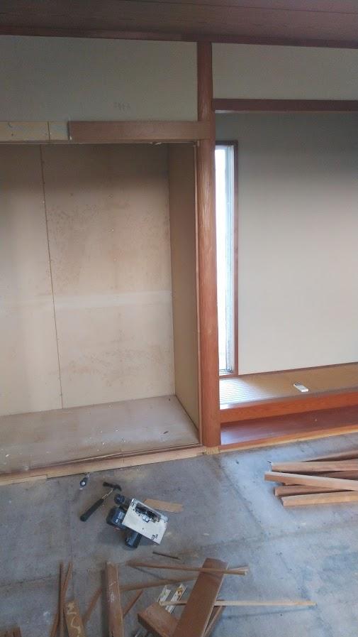 和室を解体中1