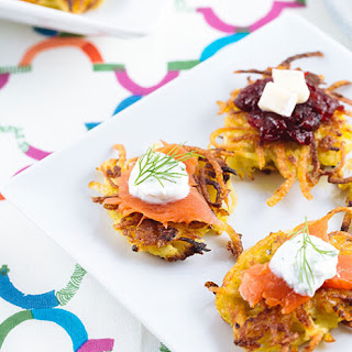 Mini Curried Potato Latkes.