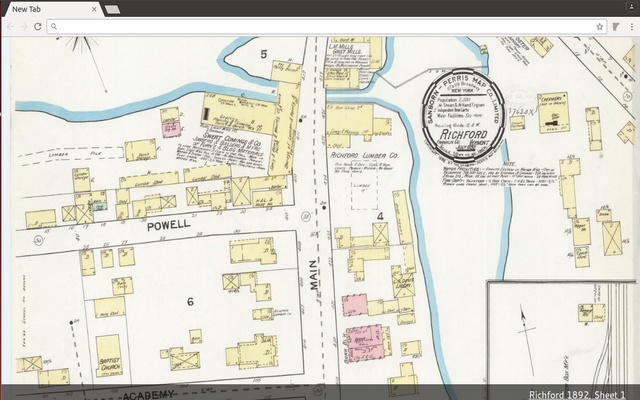 Vermont Sanborn Maps New Tab Viewer