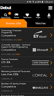 Debut - Find your first job- screenshot thumbnail