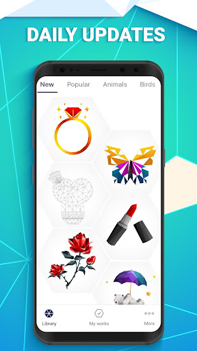 Screenshot for POLYGON: Color by Number in United States Play Store