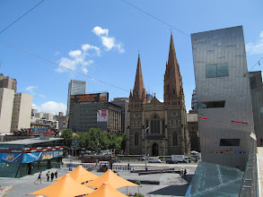 Photo: St. Paul's Cathedral from Federation Square