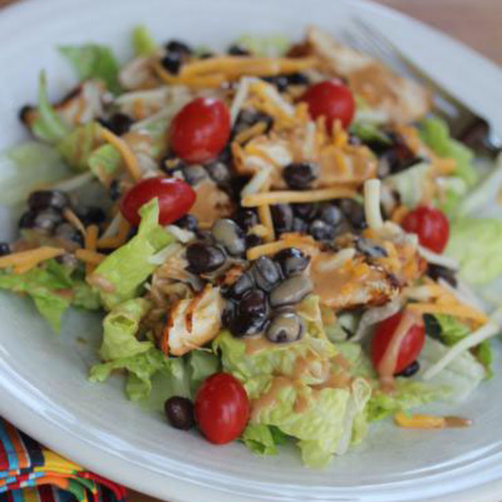 BBQ Ranch Chicken Salad Recipe | Yummly
