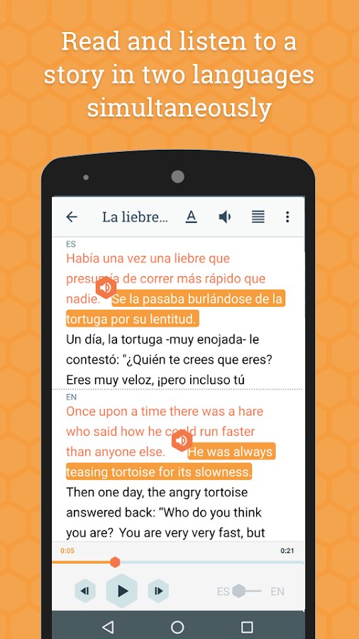 Beelinguapp: Learn Languages with Audio Books- screenshot