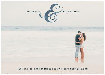 Joe & Abigail's Wedding - Wedding Invitation Template