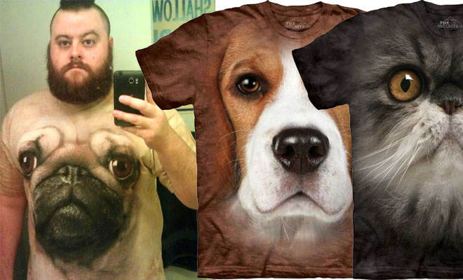 Photo: 20 Most Funniest animals face T Shirts from around the world. http://funnyneel.com/blogs/20-most-funniest-and-realistic-3d-dog-face-t-shirts