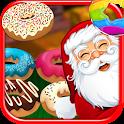 Christmas Donuts Santa FREE icon