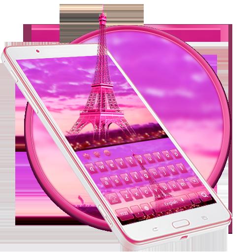 Pink Eiffel Tower Keyboard Applications Sur Google Play