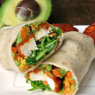 Easy Buffalo Chicken Avocado Wrap