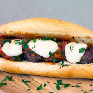 Mozzarella Meatball Sub.