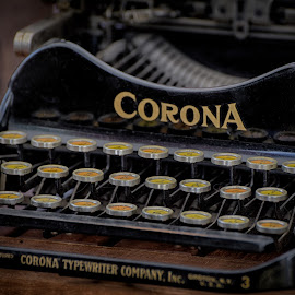 Letters & Words Machine by Marco Bertamé - Artistic Objects Other Objects ( curved, round, vintage, keys, letter, in a line, typewriter, corona,  )