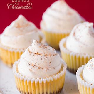 Eggnog Cheesecake Cupcakes