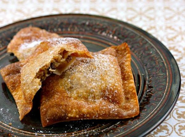 Apple Jacks...uses Wonton Wrappers & Pie Filling! Recipe