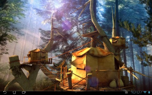 Tree Village 3D Pro lwp Screenshot