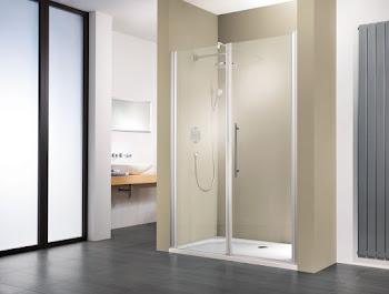 Porte de douche pivotante pour une grande niche, 120, 140 ou 160 cm