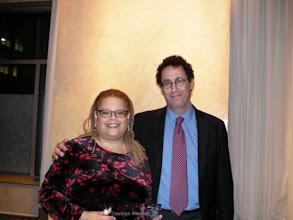 Photo: I was bear hugged at the Courage Awards in 2010 by playwright Tony Kushner.
