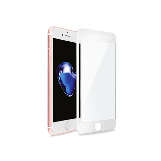 Skjermbeskytter iPhone 8 Plus herdet glass Full-Fit, White
