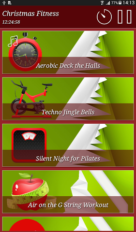 android Christmas Fitness Holidays Screenshot 12