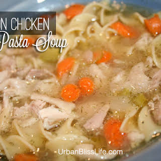 Lemon Chicken Pasta Soup.