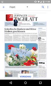 Zofinger Tagblatt - E-Paper screenshot 1