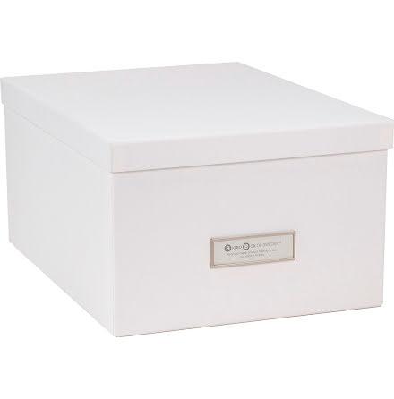 Förvaringsbox Gustav vit