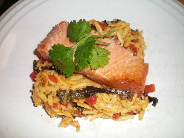 Glazed Salmon With Orzo Pasta Recipe