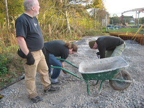 Photo: Moving yet more stone (20 tons in all?)