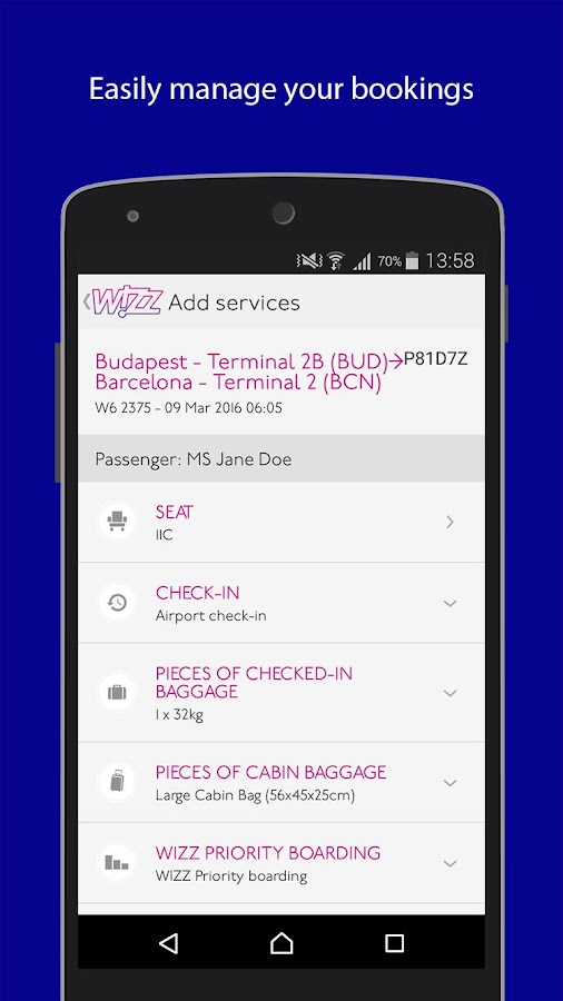 Wizz Air- screenshot