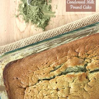 Matcha Condensed Milk Pound Cake.