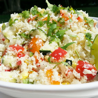 Riced Cauliflower and Summer Vegetable Salad