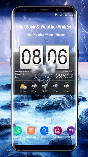 Flip Clock & Weather Widget screenshots 2