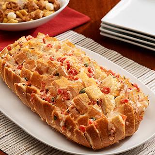 Cheesy Bruschetta Pull-Apart Bread
